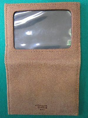 Slim Thin Brown Suede Leather Bi-Fold Credit Card ID License Holder Wallet