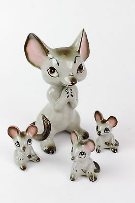 Vintage Lot 5 Collectible Mice Mouse Figures - MCM Mid Century Modern Era