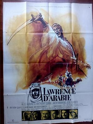 Peter O'toole David Lean Lawrence Of Arabia Orig Vintage Oversized Film Poster