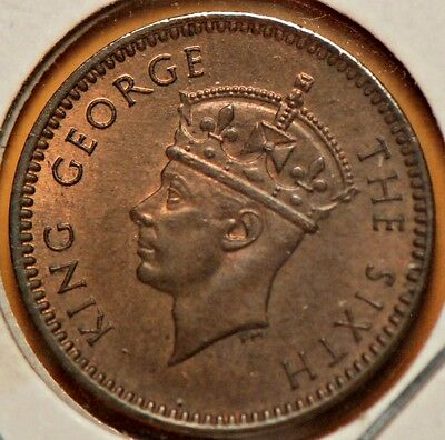 Mauritius, 1949 Cent, KM25, Brown/Red Uncirculated                       .. 8ngn