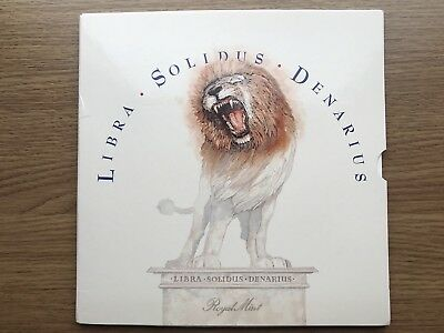 Libra Solidus Denarius set of 9 Pre-Decimal Coins issued by the Royal Mint