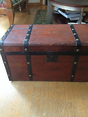 Antique Wooden Stagecoach Trunk