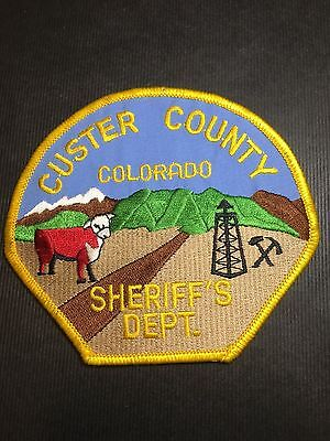 Custer  County Colorado Sheriff  Shoulder Patch
