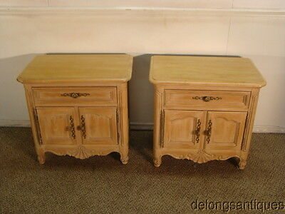 41124 Hickory Solid Oak Pair of French Style Night Stands