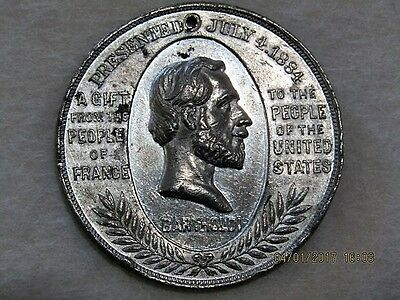 Liberty Enlightening the World -1886 Medal - Statue of Liberty, Gift from France