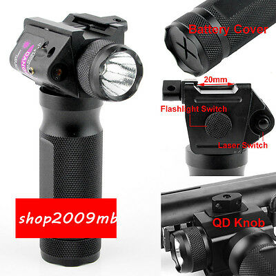 New Hunting Combo Vertical Foregrip CREE LED Flashlight with Red Dot Laser Sight