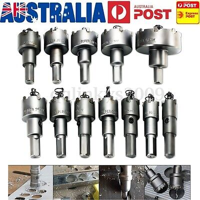 AU 12Pcs 15mm-50mm Steel Tipped Hole Saw Drill Bit Metal Wood Cutter Alloy Kit