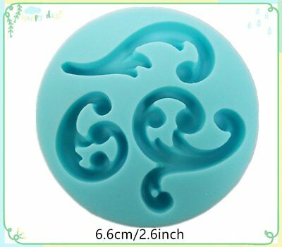 Curve Silicone Bakeware Tool Cake Decorating Clay Mold Mould Fondant Embossed