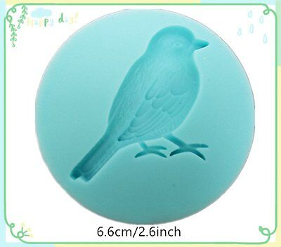 Bird Silicone Bakeware Tool Cake Decorating Clay Mold Mould Fondant Embossed