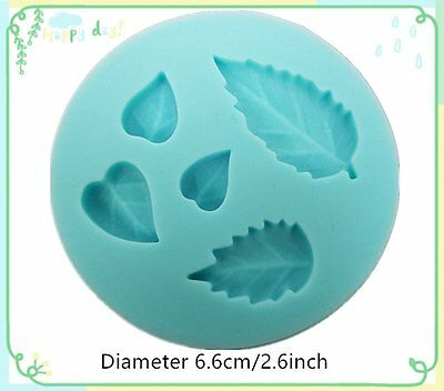 Leaf Silicone Bakeware Tool Cake Decorating Clay Mold Mould Fondant Embossed