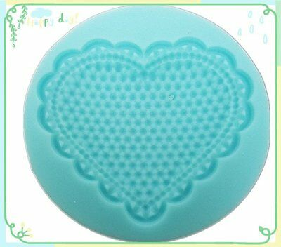 Heart Silicone Bakeware Tool Cake Decorating Clay Mold Mould Fondant Embossed