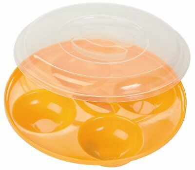 Prep Solutions By Progressive Microwavable Nonstick 4 Egg Poacher With Clear Lid