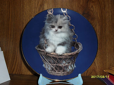 Armstrong Art On Porcelain Purr-Swayed 8 1/2 Inch  Kitten Collector Plate 1984