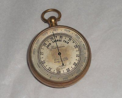 Antique London Tycos Short & Mason Compensated Pocket Barometer