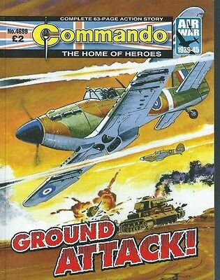 Ground Attack,commando The Home Of Heroes,no.4699,war Comic,2014