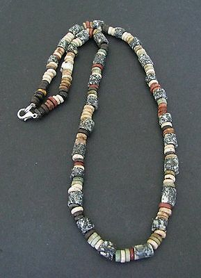 NILE  Ancient Egyptian Granite Amulet Mummy Bead Necklace ca 600 BC