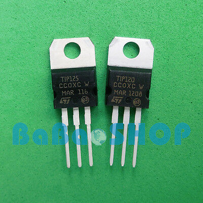 10/20/50pcs TIP120 TIP125 120 125 NPN PNP Darlington Transistors TO-220 ST