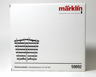 Marklin 59092 I Turnout End Piece with Frog 15 Degrees