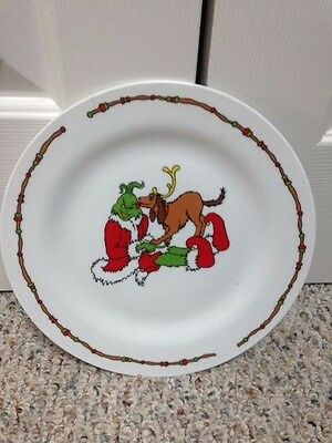 """Dr. Seuss How the Grinch Stole Christmas Plate, 10.5"""", Universal Studios"""