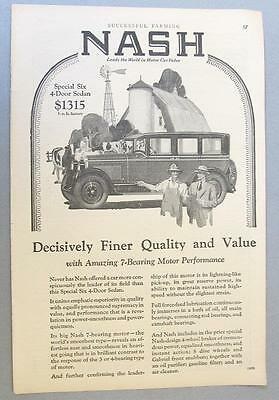 Original 1927 nash special six 4 door sedan ad decisively for 1927 nash 4 door sedan