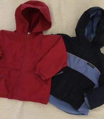 Boys Lands' End And Baby Gap 4T Hooded Coat Jacket LOT