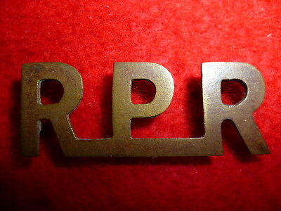 Railway Pioneer Regiment Boer War Shoulder Title