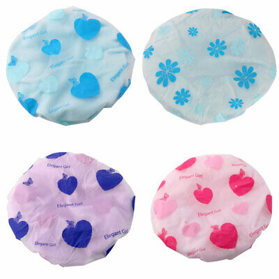Women Microfiber Hair Protector Water Resistant Elastic Spa Bathing Shower Cap