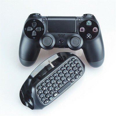 ER Bluetooth Wireless Keyboard Chatpad Keypad For PlayStation 4 PS4 Controller