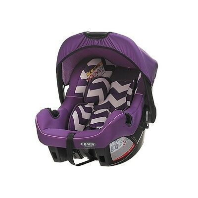 Obaby Group 0+ Infant Car Seat (Zigzag Purple) Newborn Baby Carrier