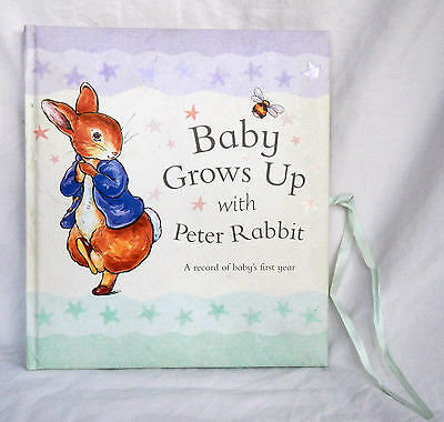 Peter Rabbit Baby Book - Baby Grows Up - Baby Record Book