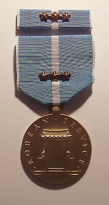U.S. Korean Service Military Medal with RIBBON 3 Battle Stars