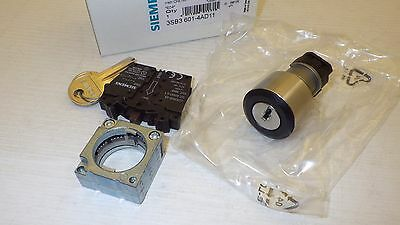 Siemens 3Sb3 601-4Ad11 2-Pos. Key Operated Switch Nib