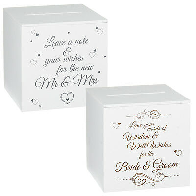 Wedding Well Wishers Message Guestbook White Wooden Post Box Reception Decor