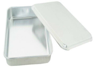 """Mirro 84975 Oblong Aluminum Cake Pan With Lid, 13"""" X 9"""" X 3-1/2"""""""