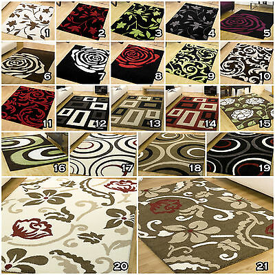 Small Modern Large Thick Carved Clearance Sale Monte Carlo Black Red Brown Rugs