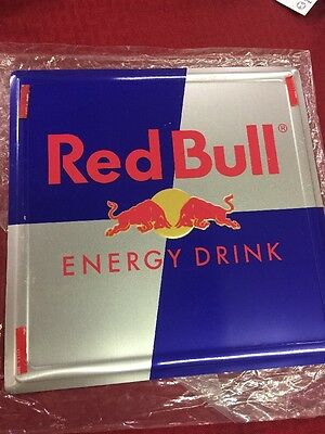 "Red Bull Energy Drink Double Sided Metal/Tin Sign~10""x10""~Great Shape~Man Cave!"