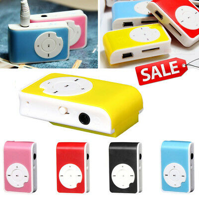 Kunststoff Mini Clip Funktion USB MP3 Player Support Micro SD TF Card Musik Medi