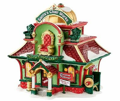 Department 56 North Pole Village Santa's Chair Works Lighted Building 4050967