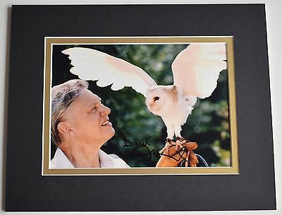David Attenborough Signed Autograph 10x8 photo display TV Animals AFTAL COA