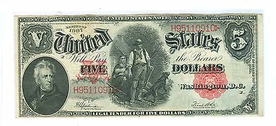 1907 Five Dollars United States Legal Tender Note - Cir