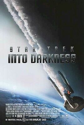 STAR TREK ~ INTO DARKNESS ~ ENTERPRISE BURN 24x36 MOVIE POSTER Advance Teaser