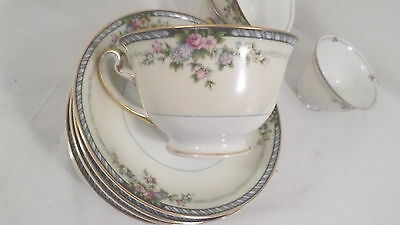 19 pc Stern Brothers NY Japan Pink Rose & Floral Teacups & Saucers