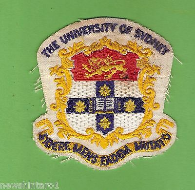 #d296. The University Of Sydney  Cloth  Patch