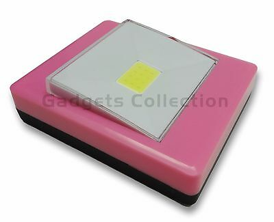 120 Lumen Battery Operated COB LED Bright Night Light Switch Wireless HOT PINK