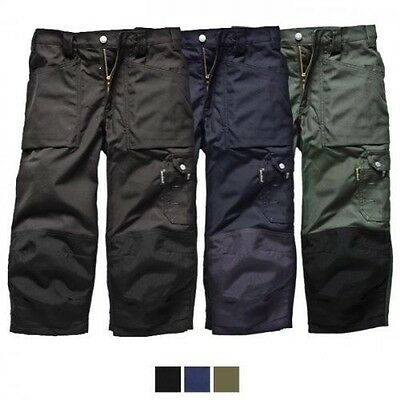 Dickies Eisenhower 3/4 Knee Pad Trousers Pants Summer Workwear Knee Pad Pocket