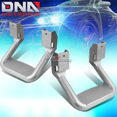 For Pickup Silver Texture Coated Die-Cast Aluminum Trunk Side Step Bar 1 Pair