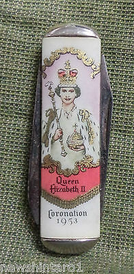 #d134. Pocket  Knife , 1953 Coronation Queen Elizabeth Ii