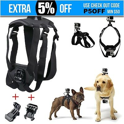 Fetch Pet Dog Harness Chest Strap Mount Belt Base Kit For GoPro Hero 1 2 3 3+ 4