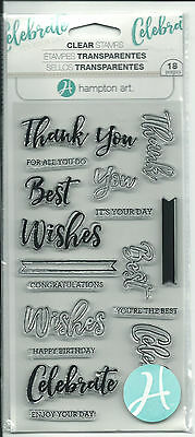 Hampton Art Clear Stamps - Words - Sc0752 - Card Making