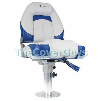 Boat Seat Premium Heavy Duty Qualifier Boat Seat Grey/Blue